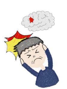 脳梗塞,頭痛い-呂律